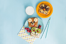 Funny Breakfast Toast For Kids...