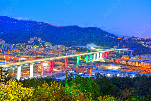 Obraz inauguration of the new highway bridge in genoa on 3 august 2020 will be called san giorgio - fototapety do salonu