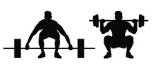 Weight Lifting Man Silhouette ...