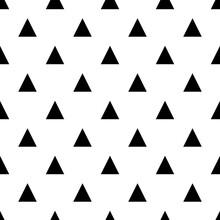 Vector Black White Seamless Pattern Geometric Art