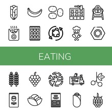 Set Of Eating Icons
