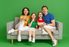 Happy Loving Family On Bright ...
