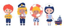 Vector Set Of Cute Happy Kids ...