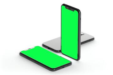 Obraz na płótnie Canvas Mock up of smartphone - 3d rendering
