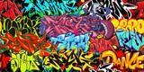 Fototapeta Młodzieżowe - Colorful Graffiti Street Art Seamless Pattern. Vector Illustration Background Art