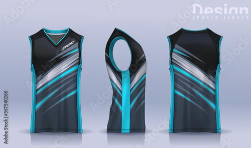 Fotografering Basketball tank top design template, Sport jersey mockup