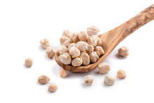 Isolated Raw Chickpeas In The ...