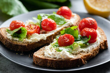 Toast With Soft Ricotta Cheese...