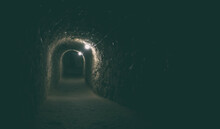 The Dark Tunnel In The Catacomb