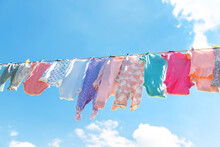 Baby Clothes Are Drying On The...
