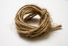 Jute Twine Isolated On White B...