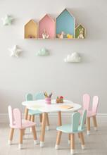 House Shaped Shelves And Littl...