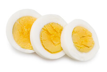 Half A Boiled Egg Isolated On A White Background
