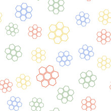 Color Honeycomb Sign Icon Isol...