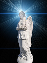 Monument An Angel On A Background Of Mystical Light