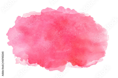 Photo Abstract pink watercolor brush stroke on white background