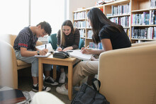 High School Students Studying ...