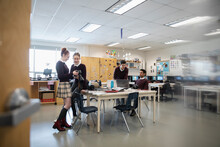 High School Students Working O...