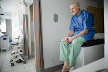 Thoughtful Senior Patient Wait...