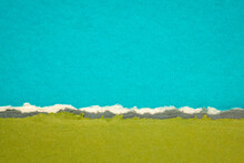 Blue And Green Abstract Landsc...
