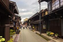 Famous Streets Of Sanmachi Suji In Takayama (Japan)