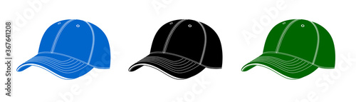 Obraz Cap baseball cap in vector.Baseball cap for sports in vector. - fototapety do salonu