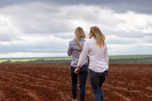 Two Females Country Farmer Gir...