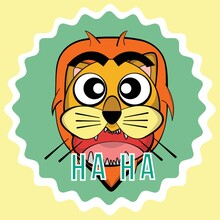 Lion Laughing Out Loud