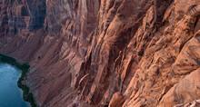 Canyon In Glen Canyon National Recreation Area. Horseshoe Bend And Colorado River.