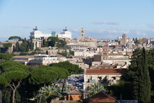 Blick Vom Aventin Auf Rom Und Die Rückseite Des Altars Des Vaterlandes