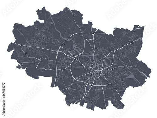 Canvas Print Wroclaw map