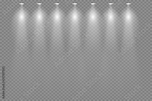 ceiling lamps on transparent background. vector illustration Wallpaper Mural