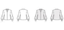 Stand Collar Shirt Technical F...