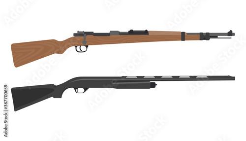 Fotografie, Obraz Old rifle gun graphic vector