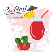 Cocktail Alcohol Strawberry Dr...
