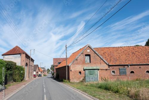 old farm in french village of nord pas de calais Wallpaper Mural