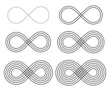 Infinity Symbol Icon Set. Eter...