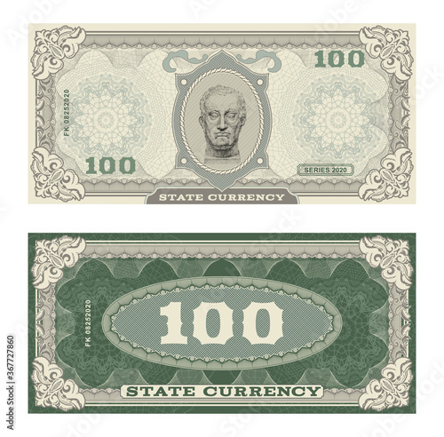 Vector money banknotes illustration with portrait of Gattamelata by Donatello classical statue Wallpaper Mural