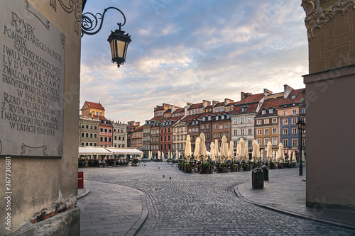 Fototapeta Rynek Starego miasta w Warszawie obraz