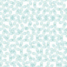 Blue Propeller Shapes Seamless Vector Pattern. Light Pastel Surface Print Design For Fabrics, Stationery, Backgrounds, Textures, And Packaging.