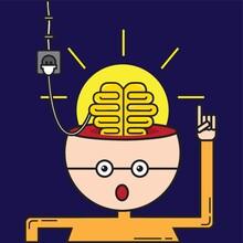 Man Charging His Brain
