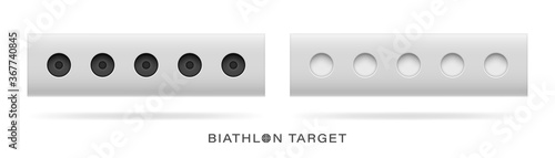 The winter sports attribute is the biathlon target Canvas Print