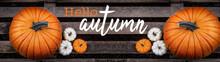 Hello / Happy Autumn Backgroun...