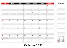 October 2021 Monthly Desk Pad ...