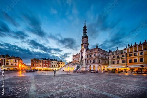 Fototapeta Stara architektura miasta nocą obraz