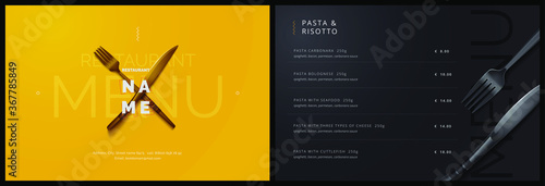 Vector menu template for restaurant and cafe Fototapete