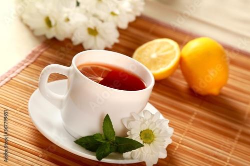 Obraz Beautiful tea setting - fototapety do salonu