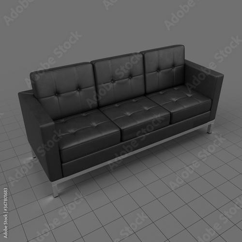 Obraz Modern three seater sofa 2 - fototapety do salonu