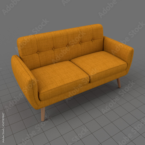 Obraz Modern two seater sofa 4 - fototapety do salonu