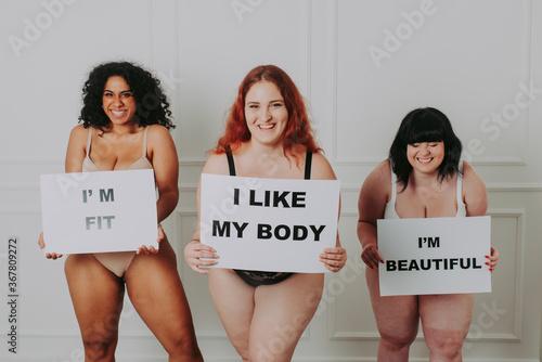 Obraz na plátne Body acceptance concept